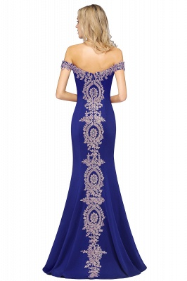 Simple Off the Shoulder Appliques Fitted Floor Length Evening Gown_17