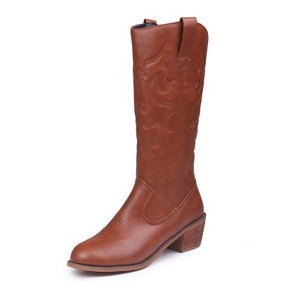 Fashion Brown Knee High Women's Boots_5