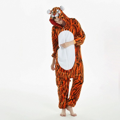 Lovely Adult Tiger Onesies Pajamas for Women