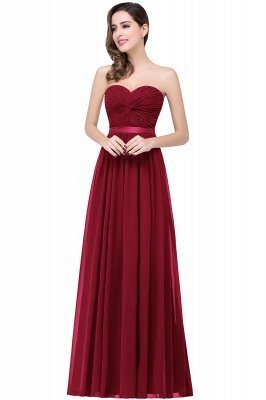 ADELINA   Simple A-line Strapless Chiffon Bridesmaid Dress with Draped_2