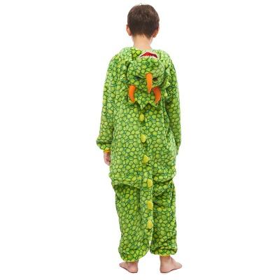 Lovely Animal Sleepwear Dinosaur Onesie, Green_3
