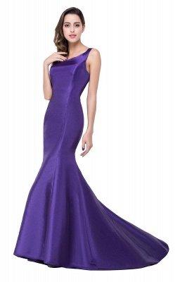 Mermaid One Shoulder Satin Long Affordable Evening Dress_3