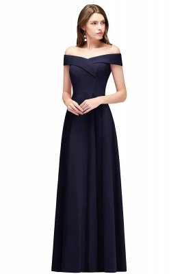 A-line Off-the-Shoulder Long Burgundy Evening Gowns_3