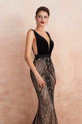 Straps Sweetheart Gorgeous Lace Sexy Black Long Prom Dresses | Elegant Black Evening Dresses_8