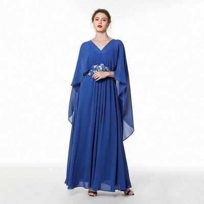 Long Chiffon Beaded Belted Prom Dresses | Floor Length Evening Dresses Online_1