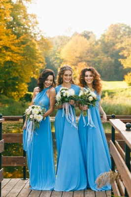 Convertible Blue Long Bridesmaid Dresses | Sexy Maid of Honor Dresses_10