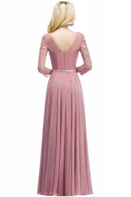 Elegant Chiffon Lace Dusty Rose Evening Dress_7