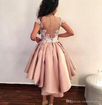 Latest Hi-Lo Prom Dresses | Pink Short Puffy Homecoming Dresses_3