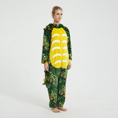 Adorable Adult Pyjamas for Women Triceratops Onesie, Green_12