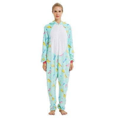 Cute Animal Pyjamas for Women Triceratops Onesie, Green_20