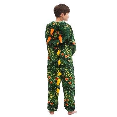 Lovely Animal Sleepwear Dinosaur Onesie, Dark Green_3
