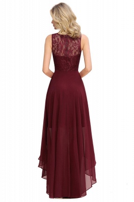 Jewel Sleeveless Hi-Lo Lace Chiffon Bridesmaid Dresses | Simple Wedding Guest Dresses_5