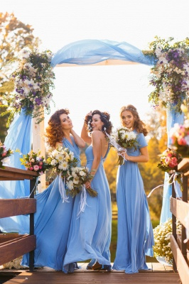 Convertible Blue Long Bridesmaid Dresses | Sexy Maid of Honor Dresses_6