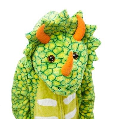 Lovely Animal Sleepwear Dinosaur Onesie, Green_7