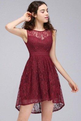 Lace Sleeveless A-line Burgundy Newest Illusion Homecoming Dress_3