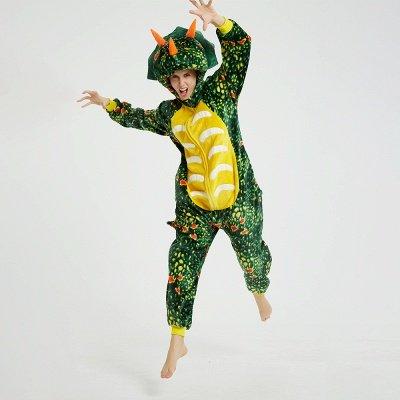 Adorable Adult Pyjamas for Women Triceratops Onesie, Green_11