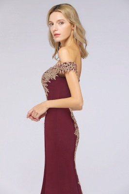 Simple Off the Shoulder Appliques Fitted Floor Length Evening Gown_37