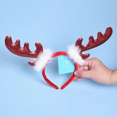 Christmas Decoration Lovely Wapiti Deer Headhand_3