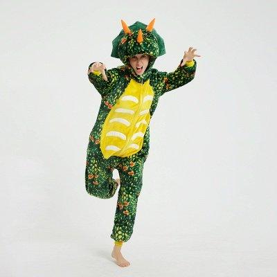 Adorable Adult Pyjamas for Women Triceratops Onesie, Green_8