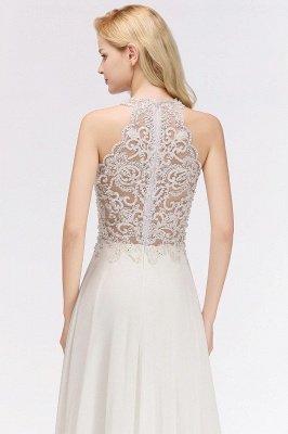 Halter Full Back Applique Beaded Pearls Chiffon A Line Prom Dresses_6