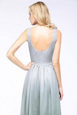 A-line Ruffles V-Neck Long Evening Dress On Sale_7