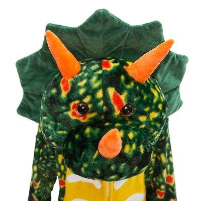 Lovely Animal Sleepwear Dinosaur Onesie, Dark Green_5