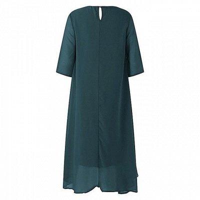 Elegant Chiffon Jewel 3/4 Sleeves Tea Length Mother of Bride Dress_6