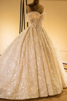 Eye-catching Strapless Lace-up Satin Wedding Dress | Haute Couture Bridal Gowns Series_4