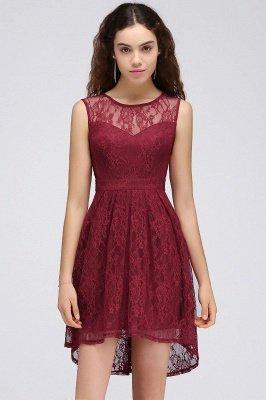 Lace Sleeveless A-line Burgundy Newest Illusion Homecoming Dress_1