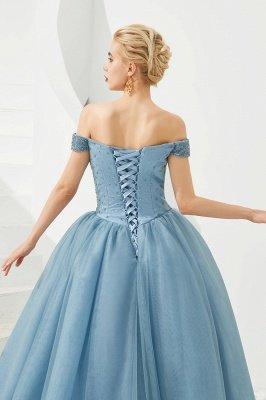Off the Shoulder Sweetheart Jade A-line Long Prom Dresses | Elegant Evening Dresses Cheap_24