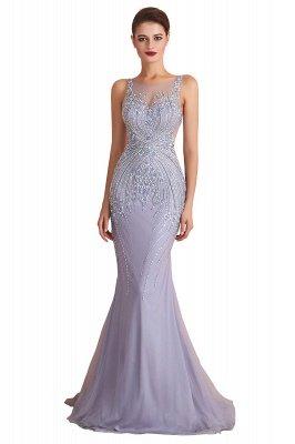 Sleeveless Bateau Beaded Sexy Long Mermaid Prom Dresses | Elegant Lilac Evening Dresses_1