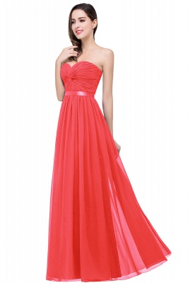ADELINA   Simple A-line Strapless Chiffon Bridesmaid Dress with Draped_1