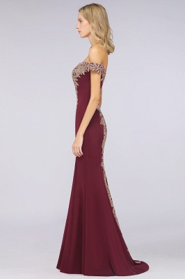 Simple Off the Shoulder Appliques Fitted Floor Length Evening Gown_35