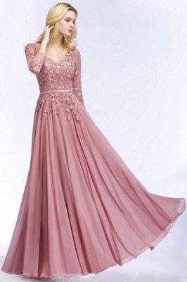 Elegant Chiffon Lace Dusty Rose Evening Dress_1