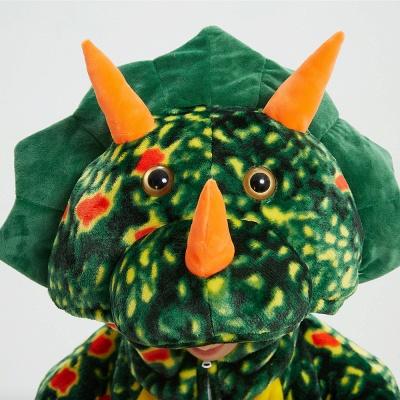 Adorable Adult Pyjamas for Women Triceratops Onesie, Green_13