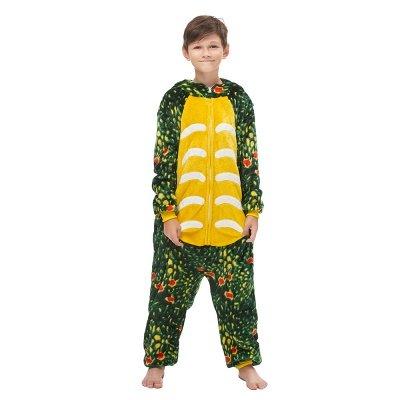 Lovely Animal Sleepwear Dinosaur Onesie, Dark Green_4