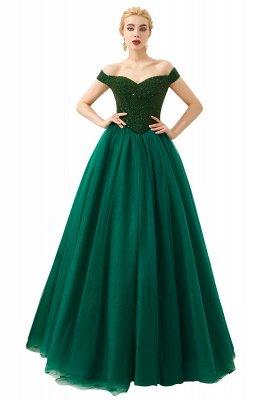 Off the Shoulder Sweetheart Jade A-line Long Prom Dresses | Elegant Evening Dresses Cheap_4