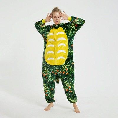 Adorable Adult Pyjamas for Women Triceratops Onesie, Green_9