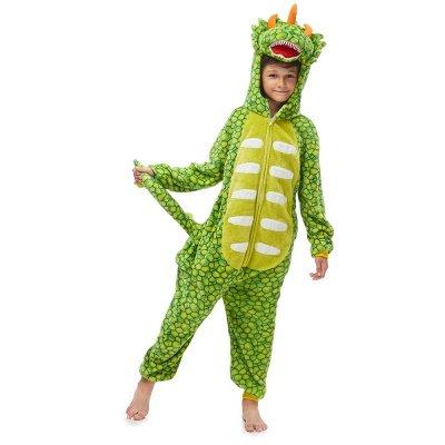 Lovely Animal Sleepwear Dinosaur Onesie, Green_4