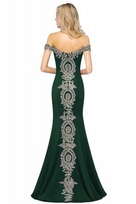 Simple Off the Shoulder Appliques Fitted Floor Length Evening Gown_43