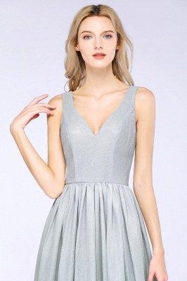 A-line Ruffles V-Neck Long Evening Dress On Sale_6