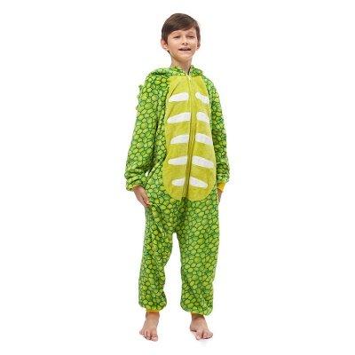 Lovely Animal Sleepwear Dinosaur Onesie, Green_2