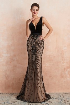 Straps Sweetheart Gorgeous Lace Sexy Black Long Prom Dresses | Elegant Black Evening Dresses_4