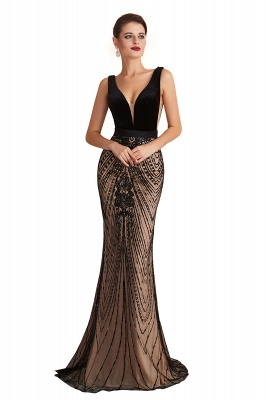 Straps Sweetheart Gorgeous Lace Sexy Black Long Prom Dresses | Elegant Black Evening Dresses_1