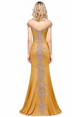 Simple Off the Shoulder Appliques Fitted Floor Length Evening Gown_32