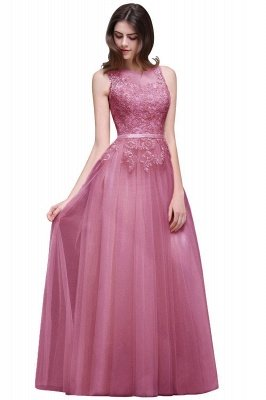 Lace Sleeveless Long Tulle Prom Dress_2