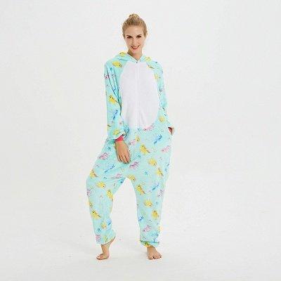 Cute Animal Pyjamas for Women Triceratops Onesie, Green_14