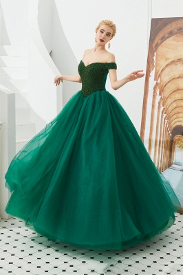 Off the Shoulder Sweetheart Jade A-line Long Prom Dresses | Elegant Evening Dresses Cheap_19
