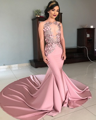Straps Jewel Appliques Sexy Mermaid Prom Dresses | Gorgeous Long Evening Dresses_2