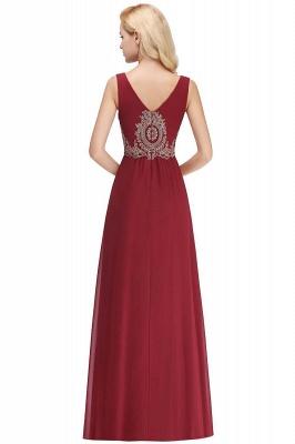 A-Line Chiffon Lace Ruffles Evening Dress On Sale_9